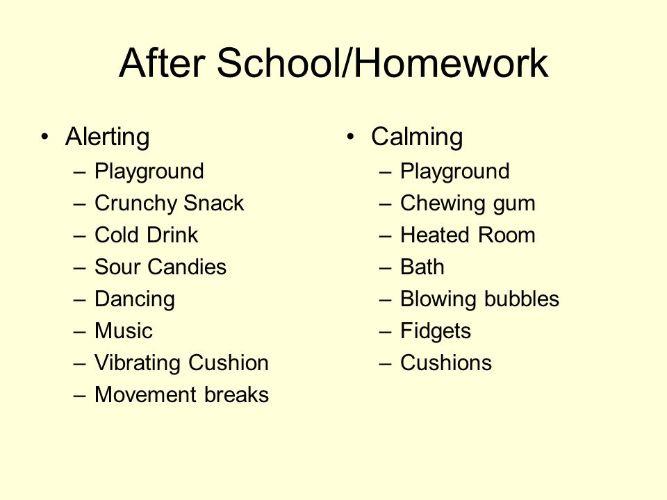 After School/Homework