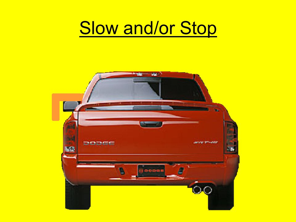 Slow and/or Stop