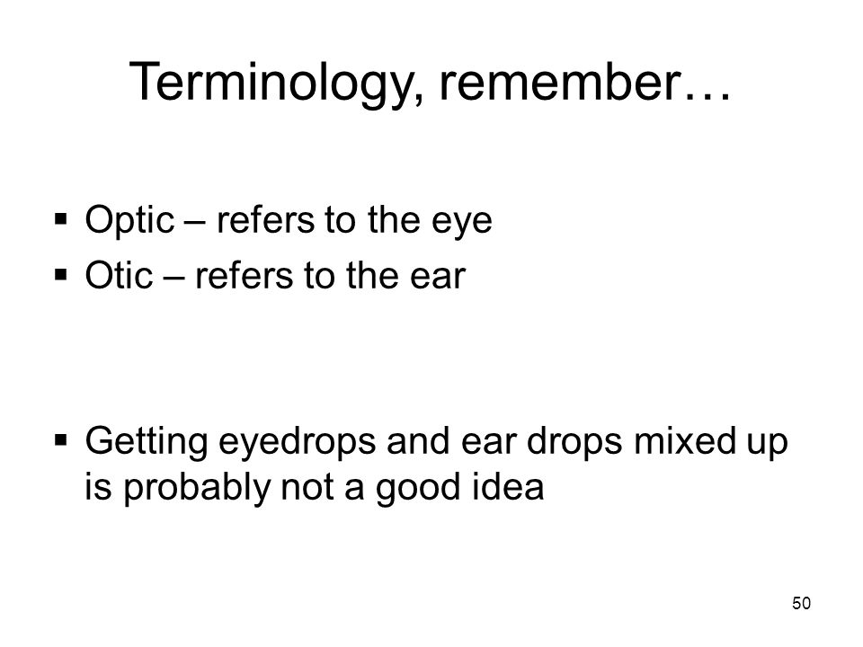 Terminology, remember…