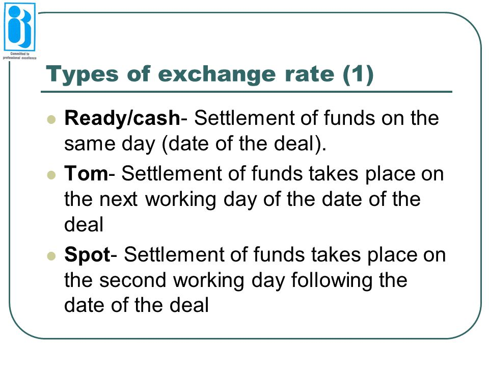 Types of exchange rate (1)