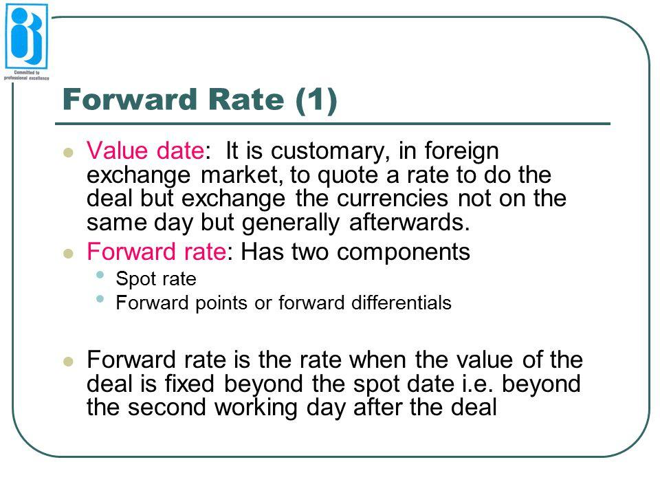 Forward Rate (1)