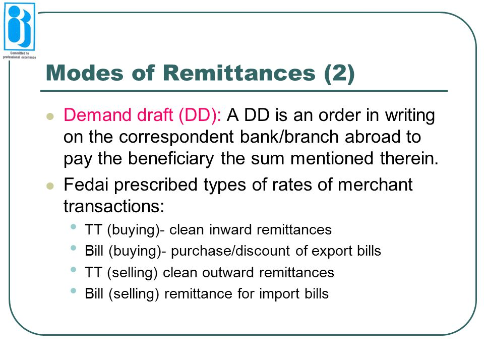 Modes of Remittances (2)