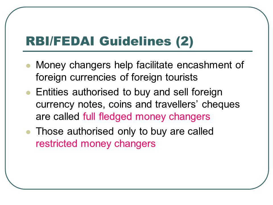 RBI/FEDAI Guidelines (2)