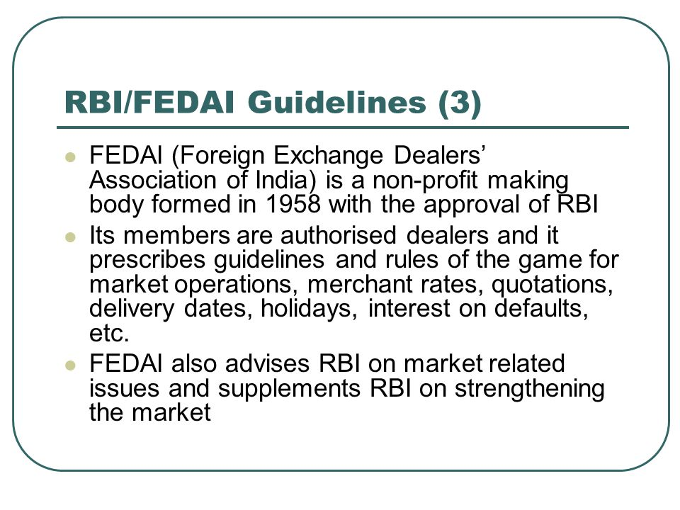 RBI/FEDAI Guidelines (3)