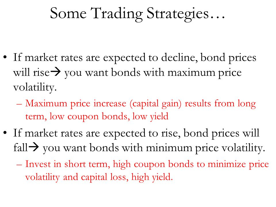 Some Trading Strategies…