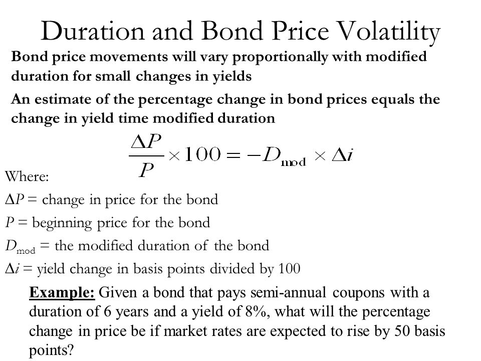 Duration and Bond Price Volatility