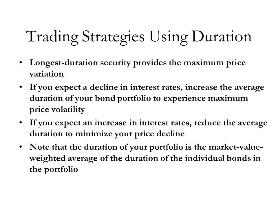 Trading Strategies Using Duration