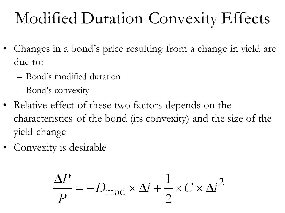 Modified Duration-Convexity Effects