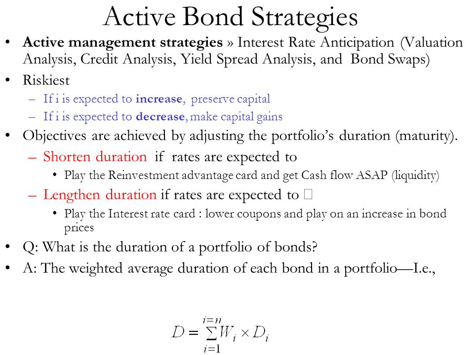 Active Bond Strategies