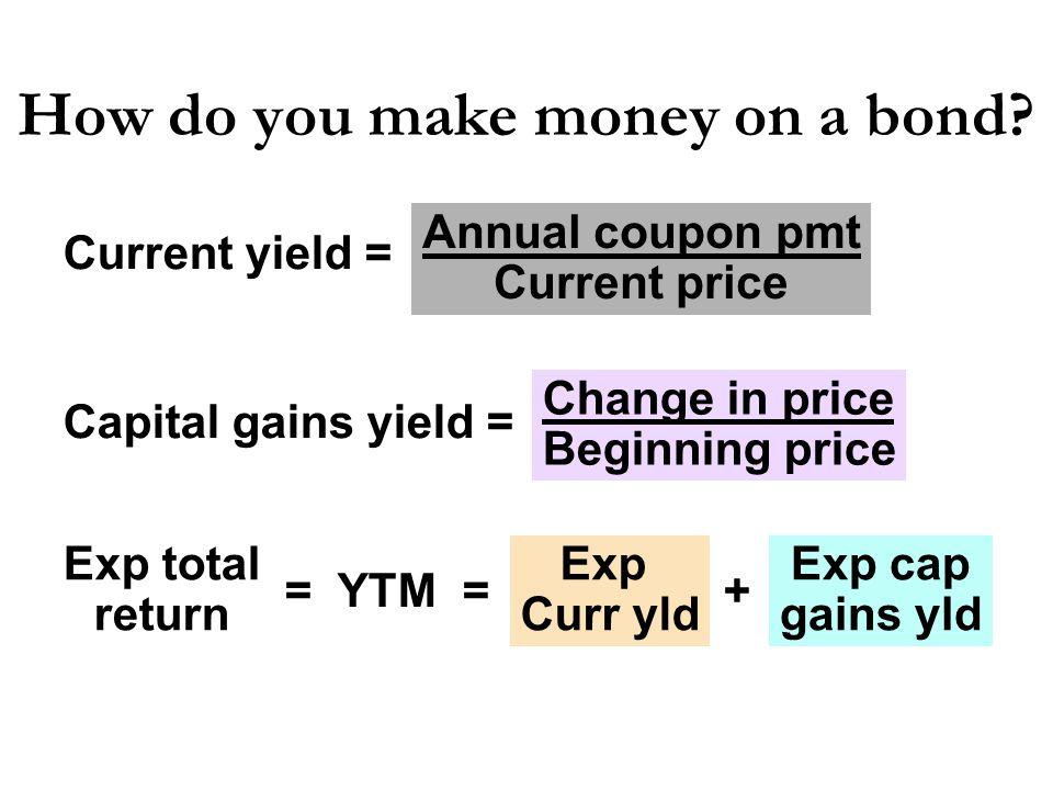 How do you make money on a bond