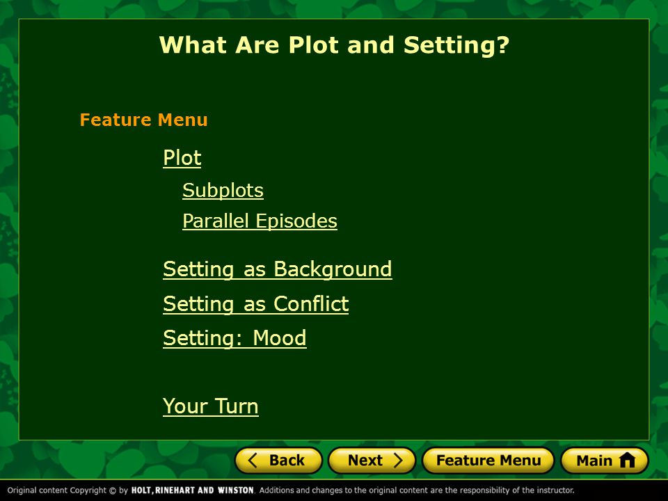 What Are Plot and Setting