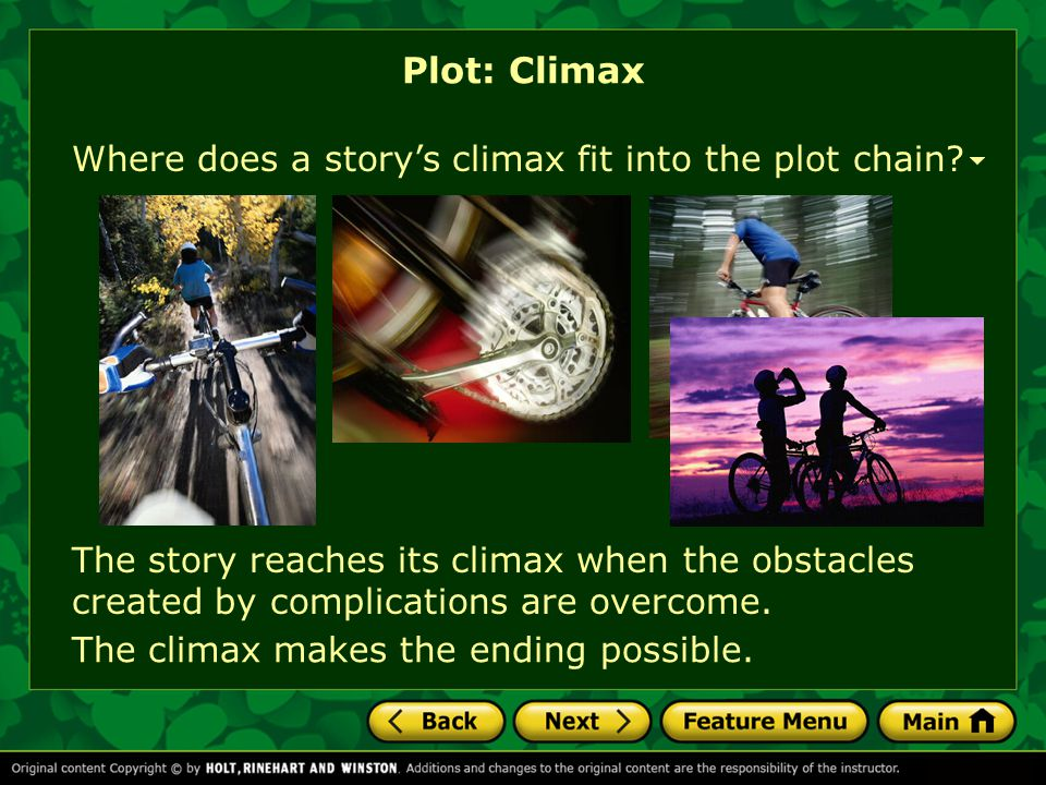 Plot: Climax Where does a story's climax fit into the plot chain