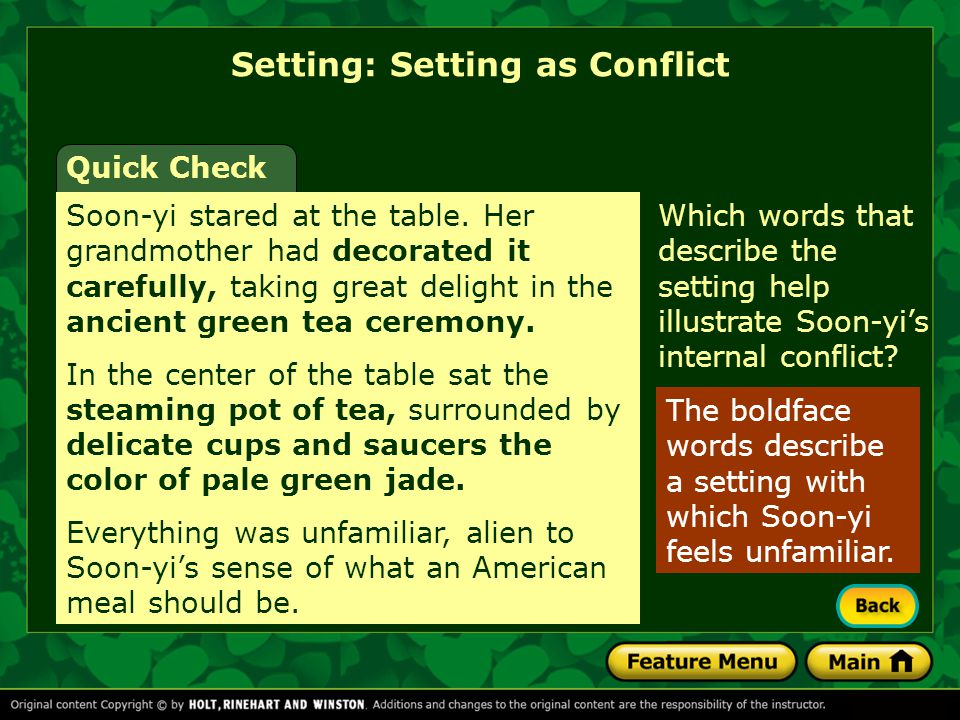 Setting: Setting as Conflict