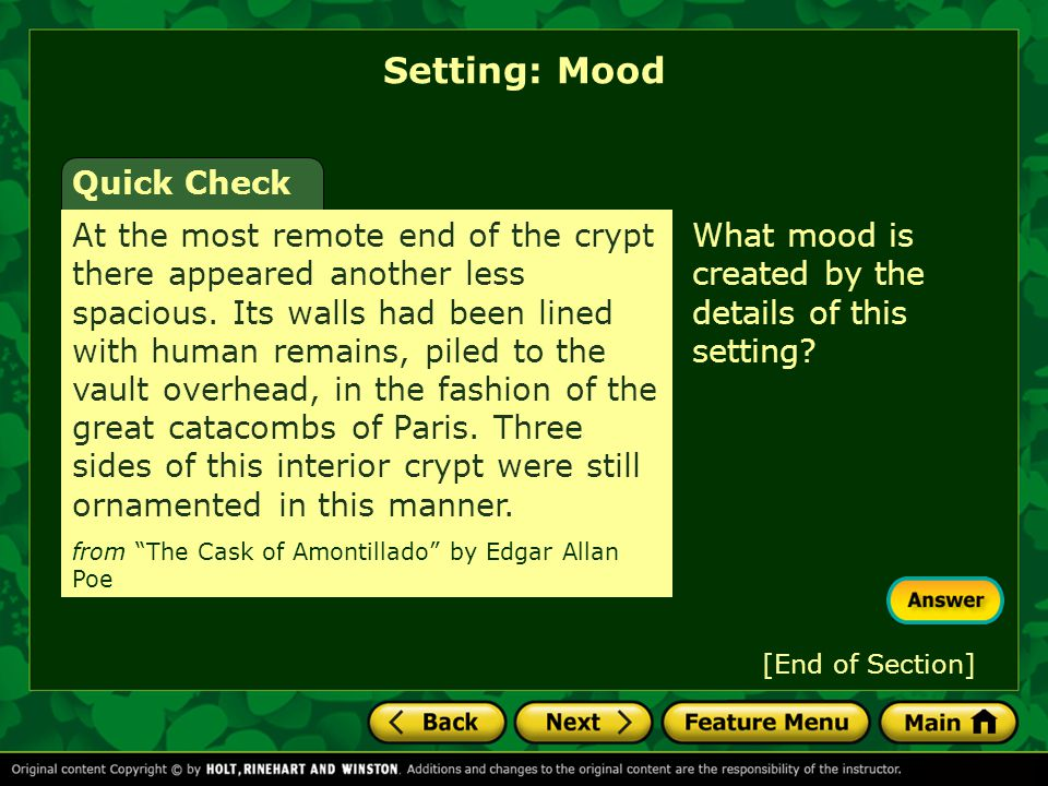 Setting: Mood Quick Check