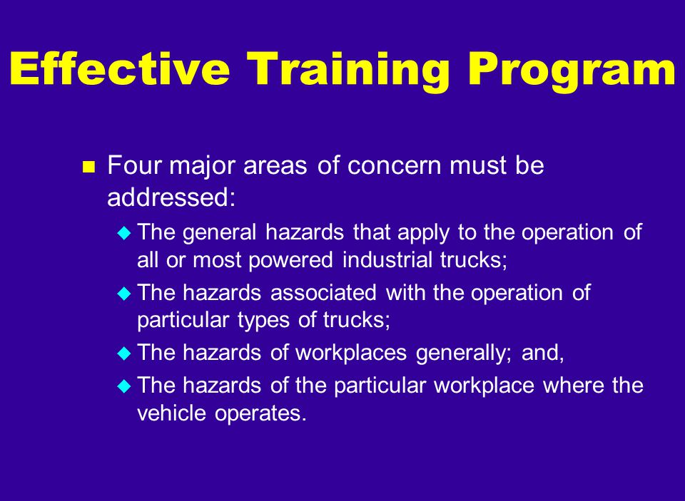 Effective Training Program