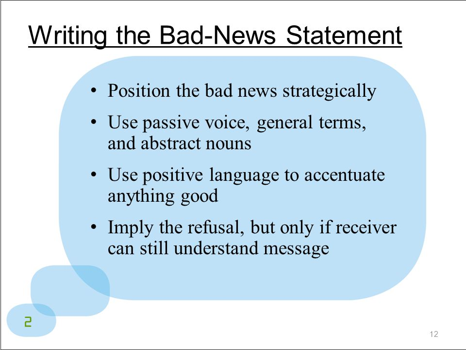 Writing the Bad-News Statement
