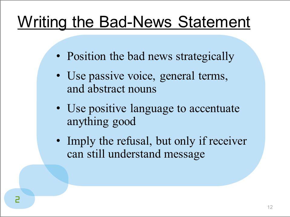Writing the Bad-News Statement