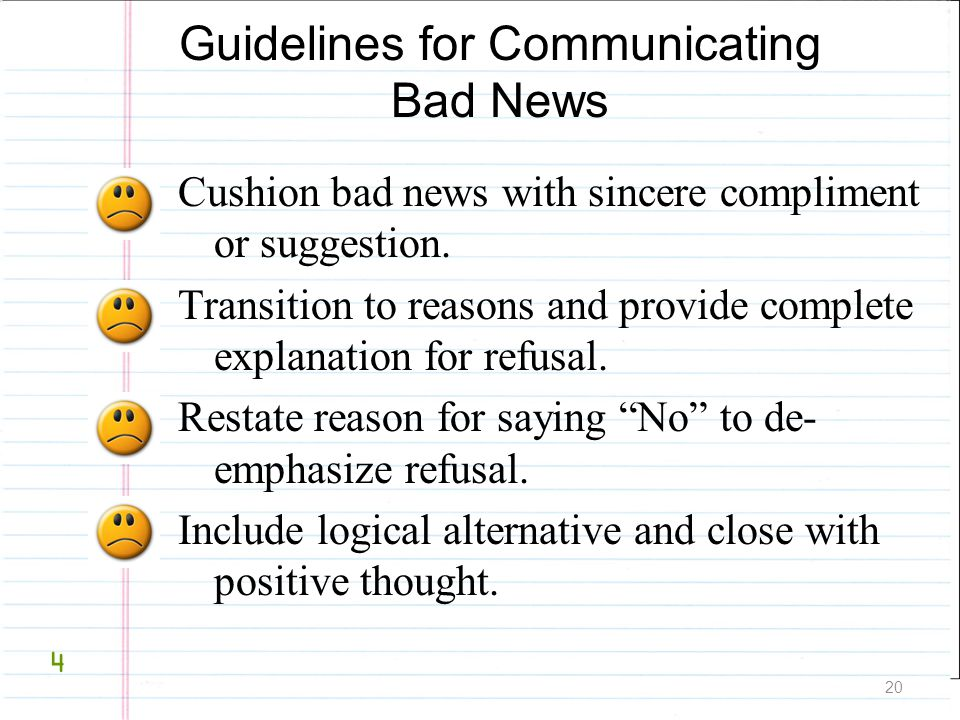 Guidelines for Communicating Bad News
