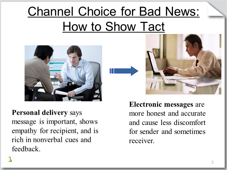 Channel Choice for Bad News: How to Show Tact