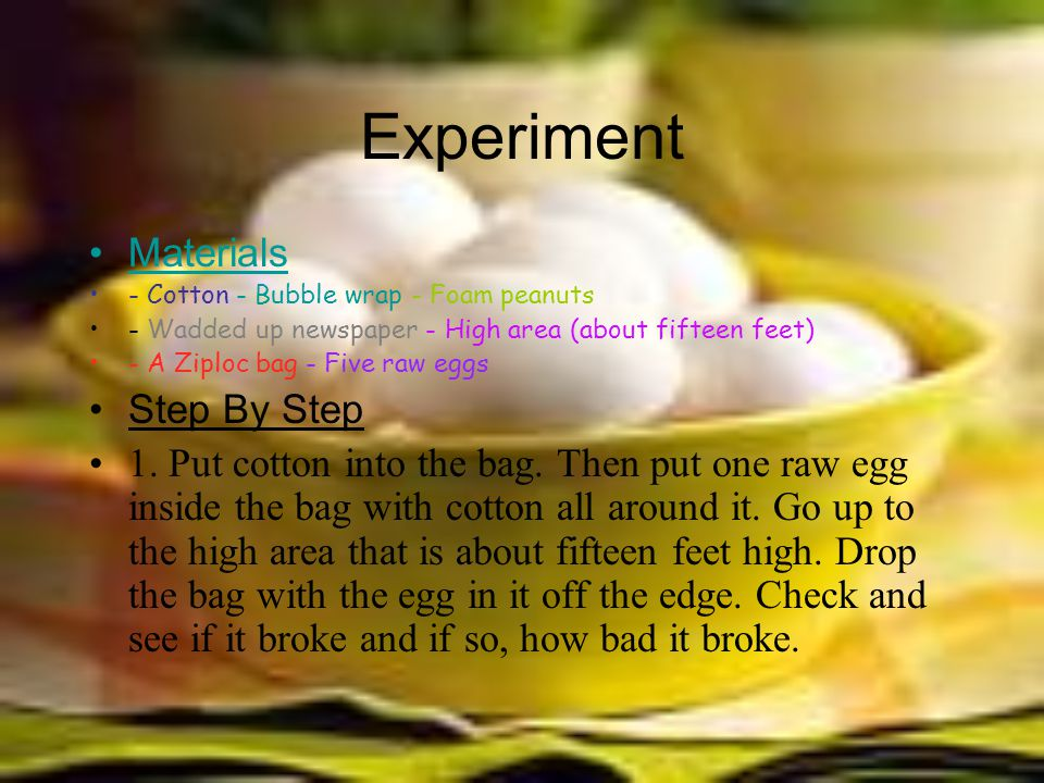Experiment Materials Step By Step
