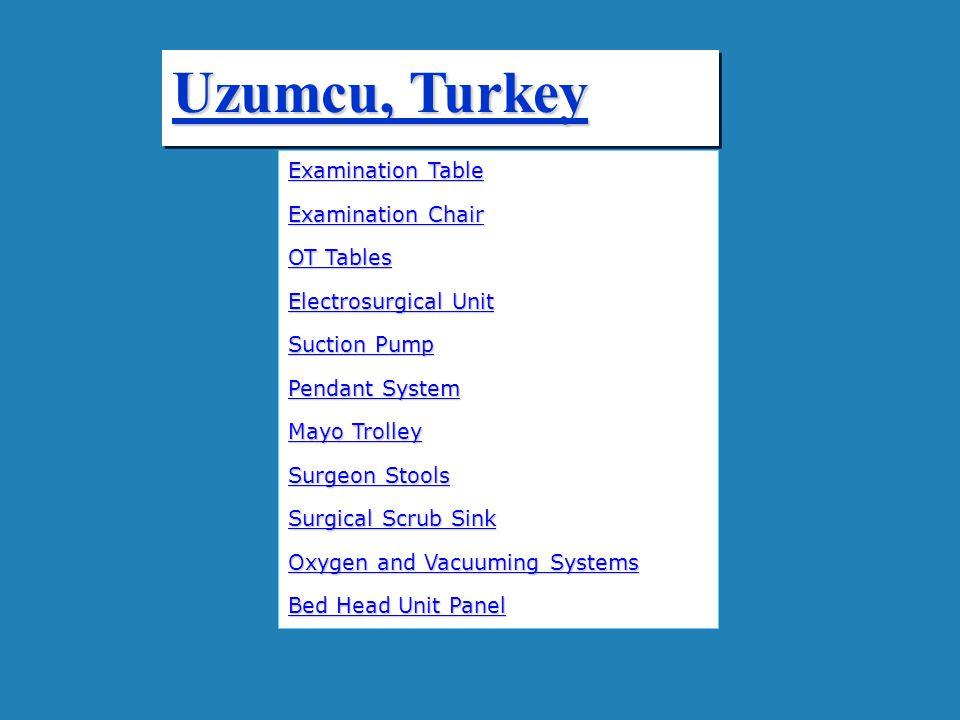 Uzumcu, Turkey Examination Table Examination Chair OT Tables
