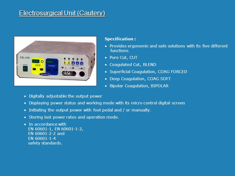 Electrosurgical Unit (Cautery)