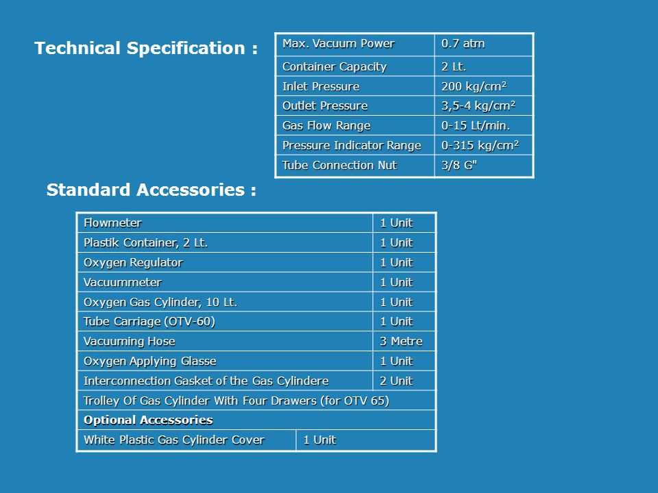 Technical Specification :