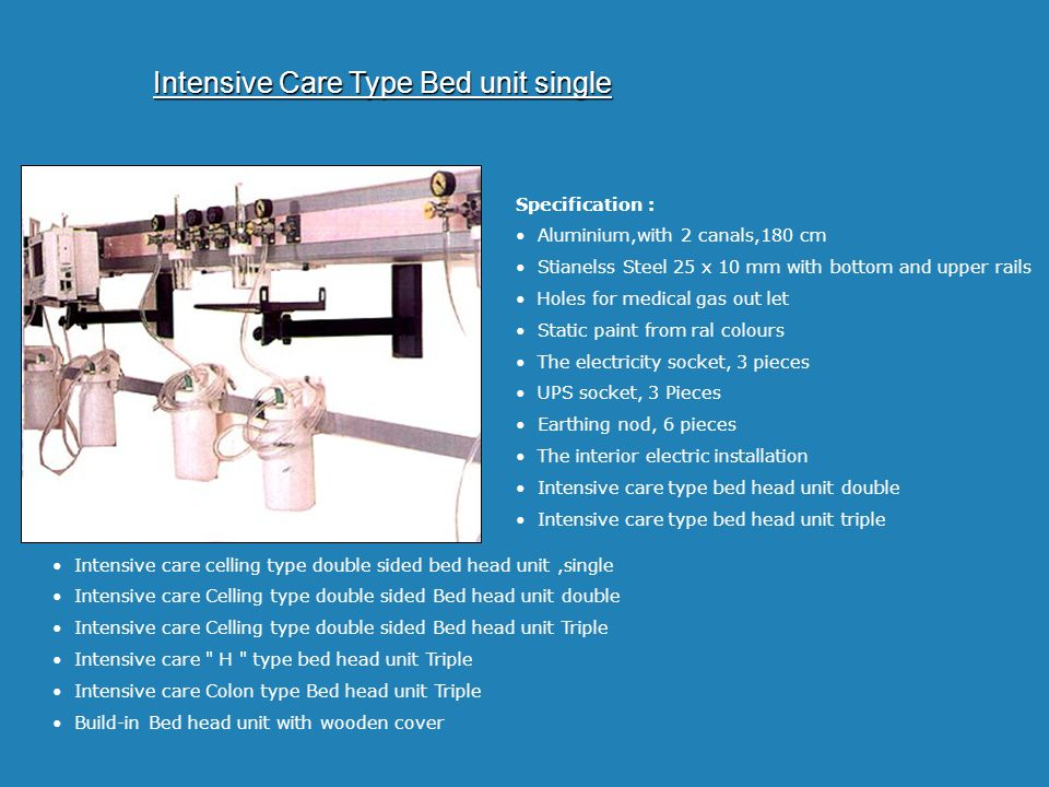 Intensive Care Type Bed unit single