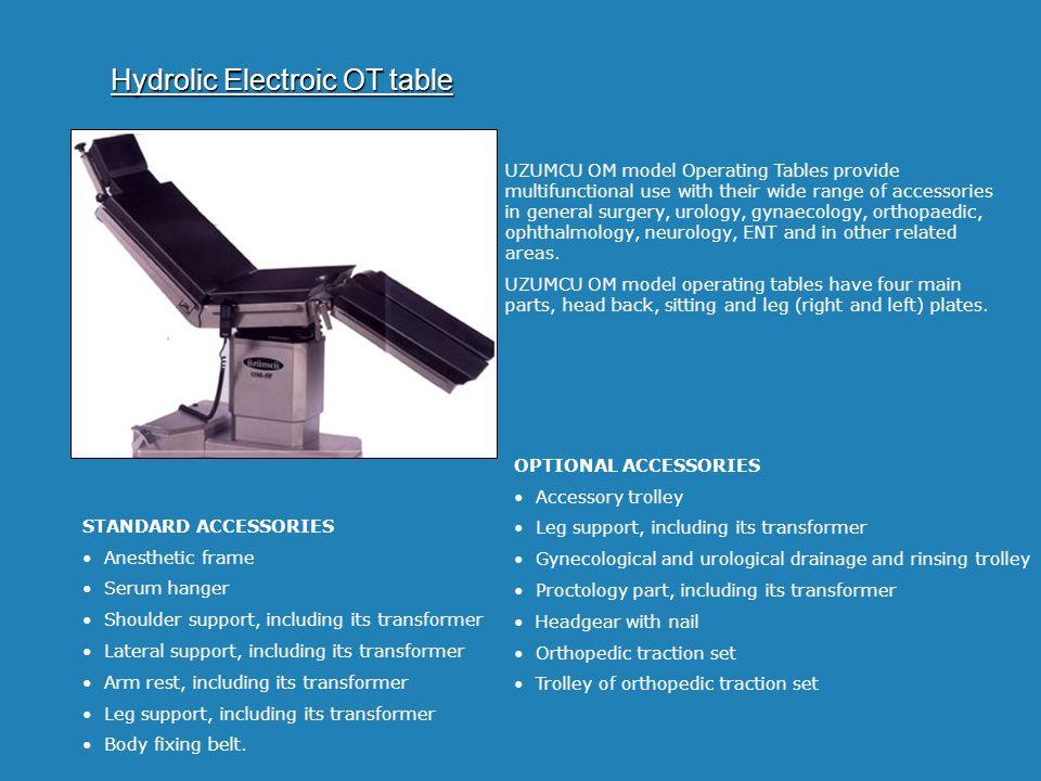 Hydrolic Electroic OT table