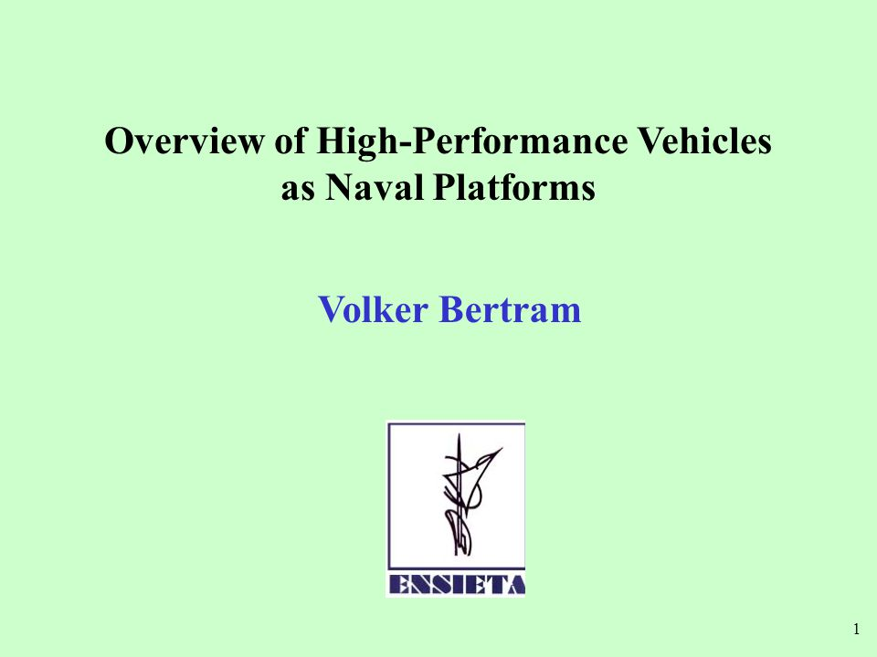 Overview of High-Performance Vehicles