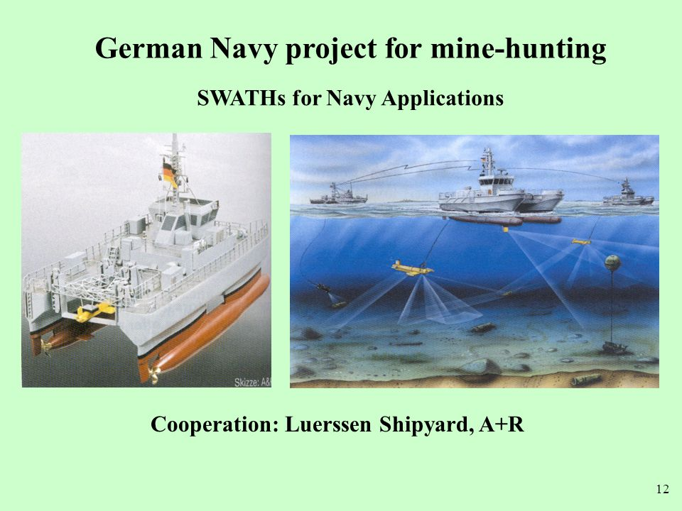 German Navy project for mine-hunting SWATHs for Navy Applications