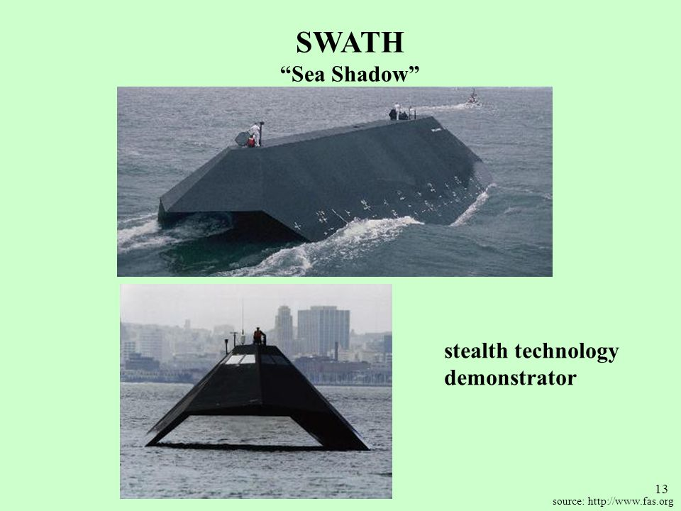 SWATH Sea Shadow stealth technology demonstrator