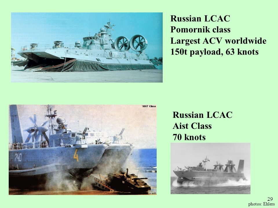 Russian LCAC Pomornik class Largest ACV worldwide
