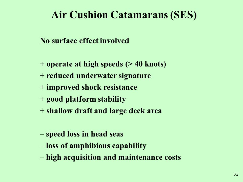 Air Cushion Catamarans (SES)