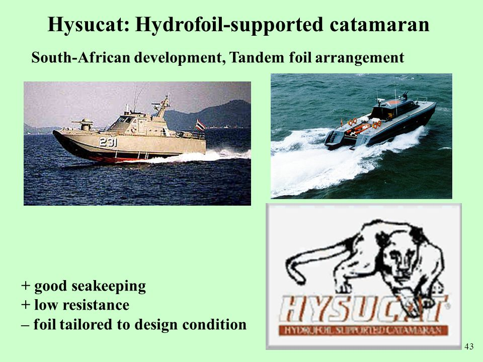 Hysucat: Hydrofoil-supported catamaran