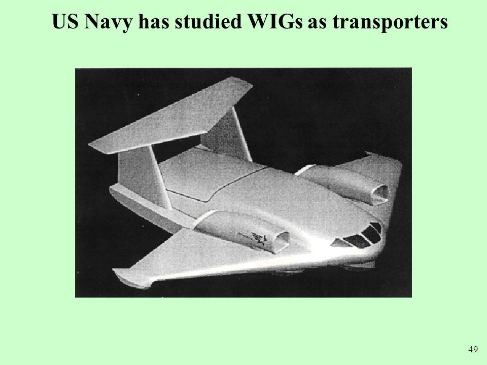 US Navy has studied WIGs as transporters