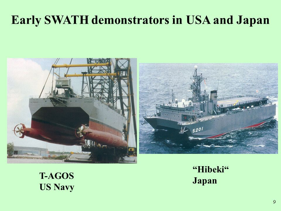 Early SWATH demonstrators in USA and Japan