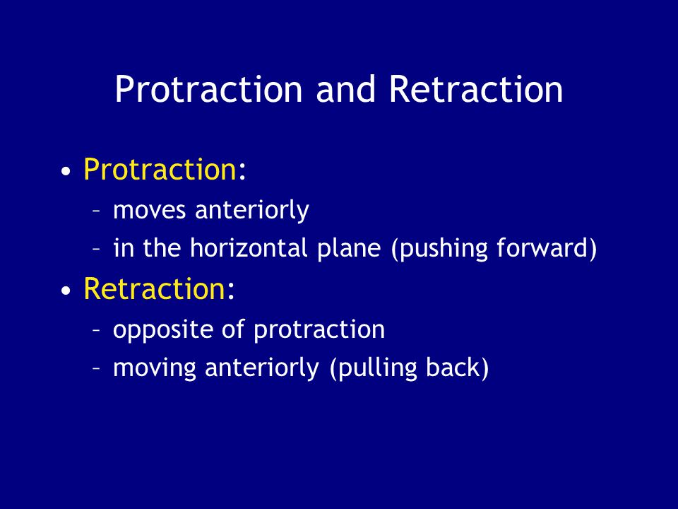 Protraction and Retraction