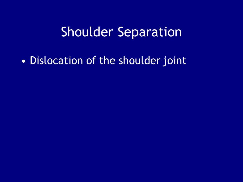 Shoulder Separation Dislocation of the shoulder joint