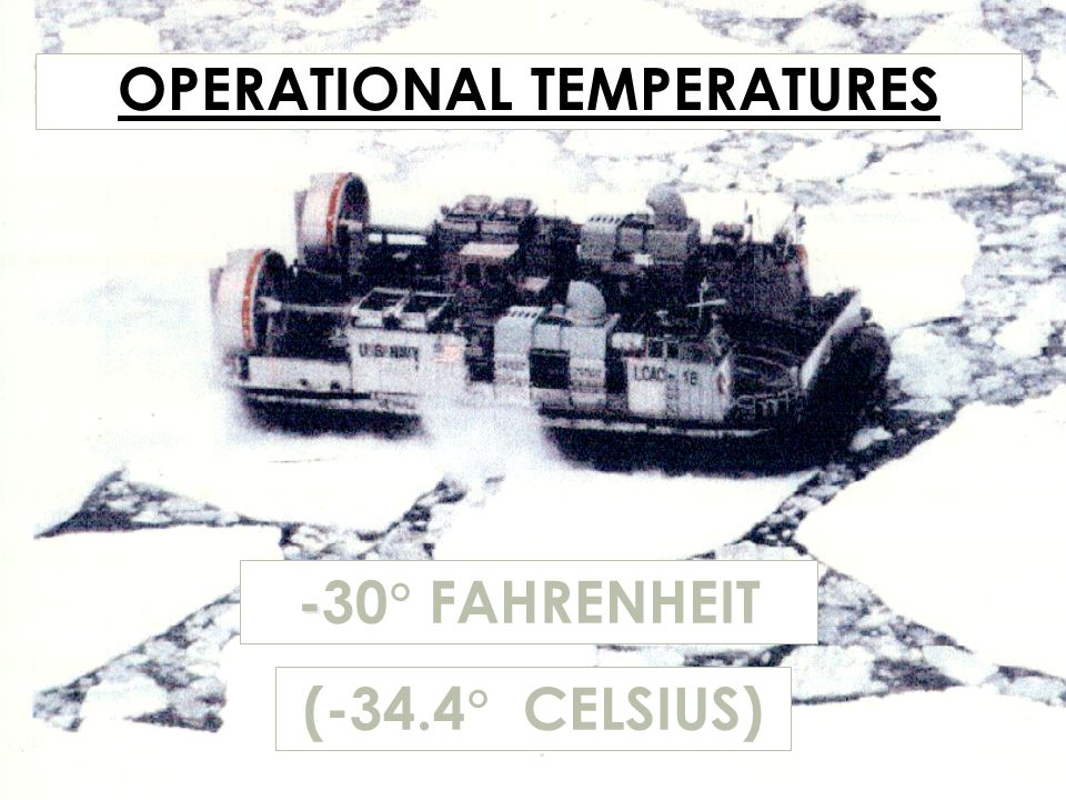 OPERATIONAL TEMPERATURES