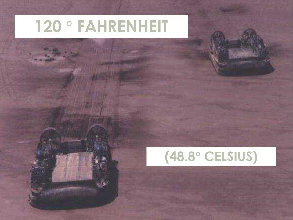 120 ° FAHRENHEIT (48.8° CELSIUS)