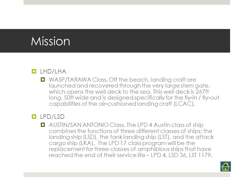 Mission LHD/LHA LPD/LSD