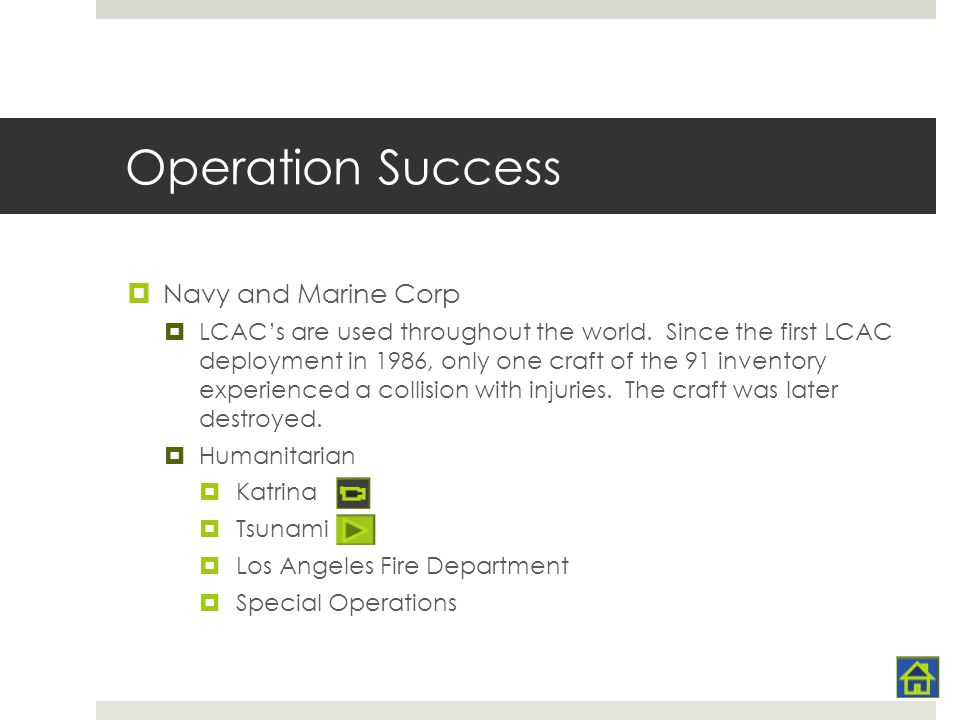Operation Success Navy and Marine Corp