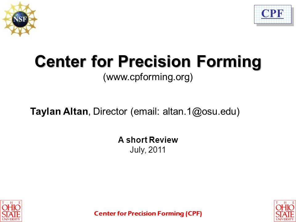 Center for Precision Forming