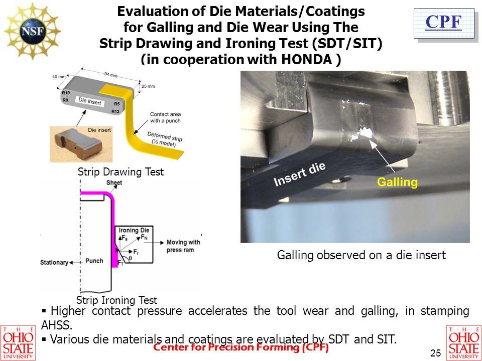 Evaluation of Die Materials/Coatings