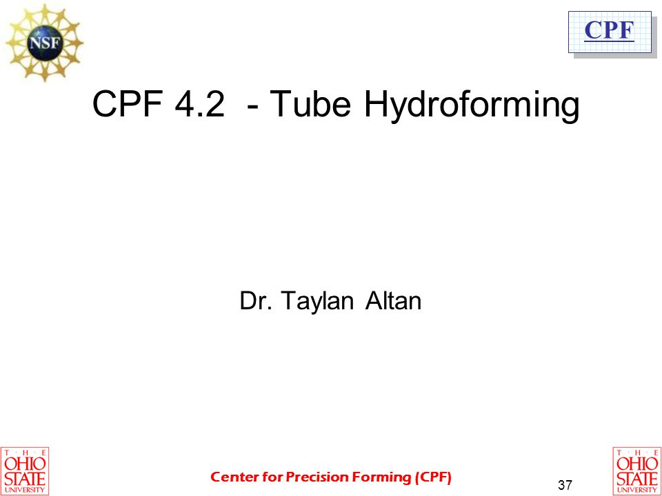 CPF 4.2 - Tube Hydroforming