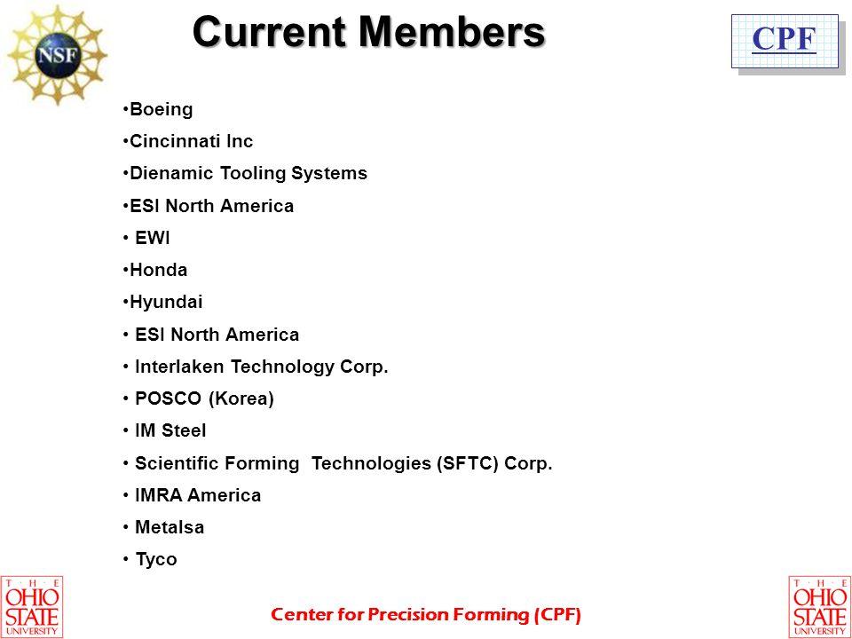 Current Members Boeing Cincinnati Inc Dienamic Tooling Systems