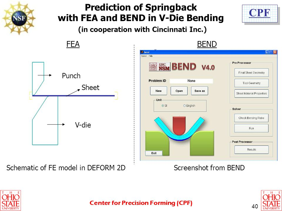 Prediction of Springback with FEA and BEND in V-Die Bending