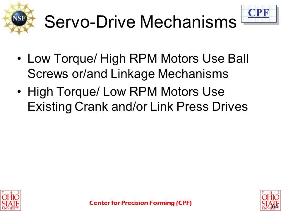 Servo-Drive Mechanisms