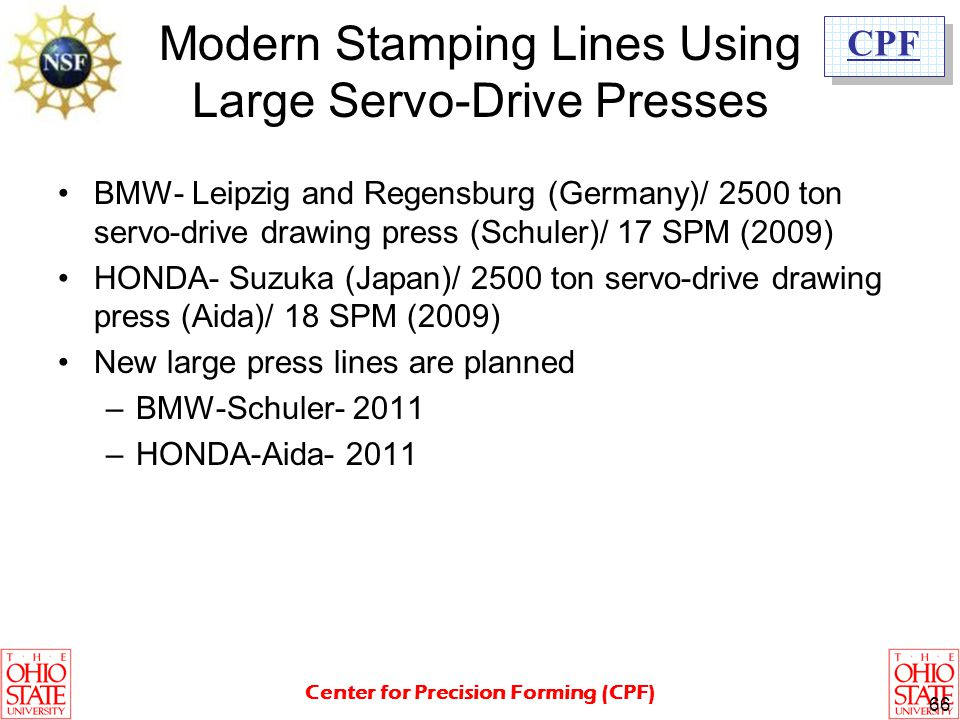Modern Stamping Lines Using Large Servo-Drive Presses